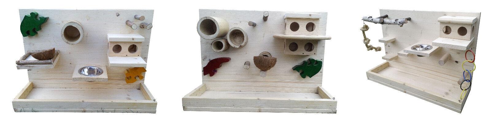 Wandspielplatz für Vögel Kletterbaum Vogelhaus Sittiche Finken Kanarien