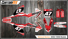 KTM SX50 SX65 Graphics Kit with custom numbers etc - SX 50 65 2002-2016 ABSTRACT