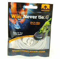 Nathan Lock Laces Shoe String No/never Tie Running Tri Jogging Reflective White