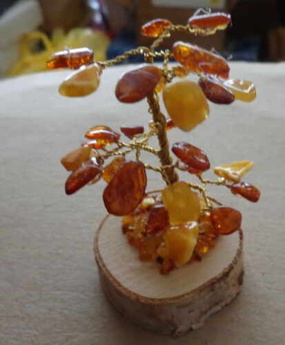 multicolor Baltic Amber tree in box #2