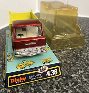 Dinky Toys 438 Ford D800 Tipper Red & Yellow  Boxed Super RARE!!!! NEAR MINT