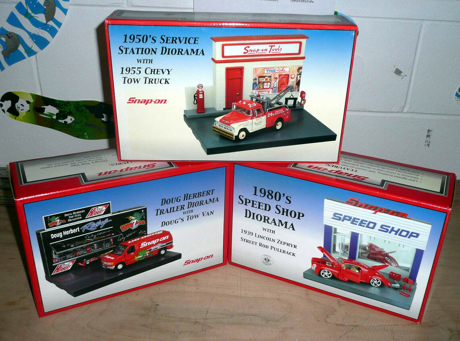 Lot of 3 Crown Premiums Snap-On Tools Tools Tools Diorama Sets  1 43 Scale  New  See Pics 4724f5