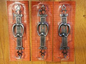 Vtg  Amerock Madeira Cabinet Drawer Door Pull Anitque Silver Color T-171