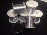 -- One Spool Containing 100 Yards Silver Metallic Tinsel Thread