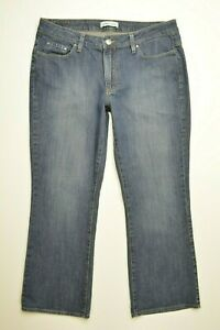 RIDERS-by-Lee-Size-14-P-PETITE-Womens-BOOTCUT-Dark-Wash-STRETCH-Denim-Blue-Jeans