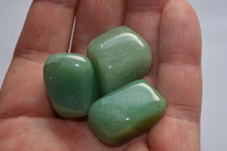 Smykker og sten, 5 stk. Aventurin