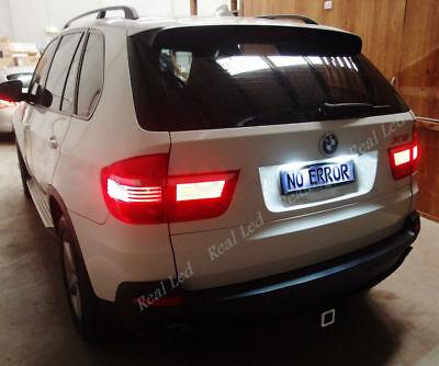 2X NUMBER PLATE BULBS 6 LED WHITE 60000K CANBUS FREE ERROR BMW X5 E53 1999-2007