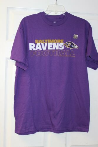 Baltimore Ravens Team Apparel T-Shirt Royal Purple With White//Gold Lettering