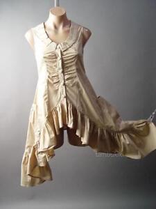 Ruffle Handkerchief Hem Steampunk Victorian Bustle Tailcoat Top 104 fp Blouse S