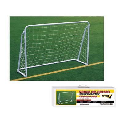Gioco Porta Da Calcio Calcetto Deluxe Soccer Goal Mandelli Sport One 180x120x60 Non-Stireria
