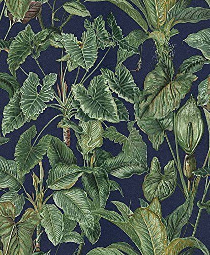 Erismann Paradiso Tropical Feuilles Motif Papier Peint Jungle Foret