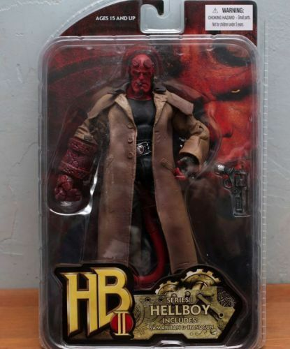 Hellboy Mezco HB 7  Action Figure Smoking Ver. Series 2 Collection Loose No Box