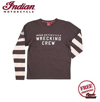 Newlt Mens Classic Indian Motorcycle Tee Black