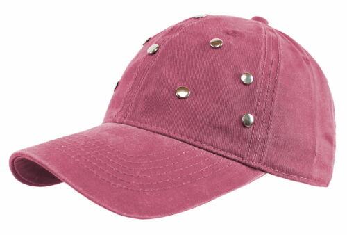 Mütze Damen Damen Kappe Baseball Cap Mütze Basecap mit Nieten