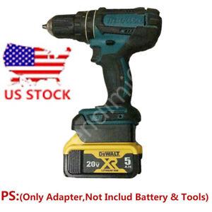1x Dewalt 18V Impact Tools Adapter Uses Milwaukee M18 Slider Li-ion Battery RED