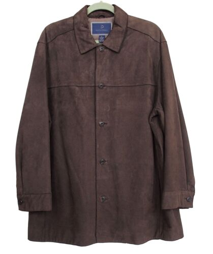 POST & POWELL Jacket Suede Leather Brown Size L