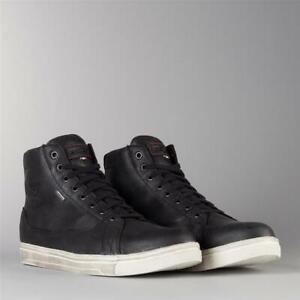 Schuhe Sneakers Motorrad IN Leder Verstärkt Gore-Tex TCX Mood GTX 9405G-N Black