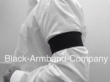 1 x Black Memorial Black Arm band - Funeral, Mourning, Military, football