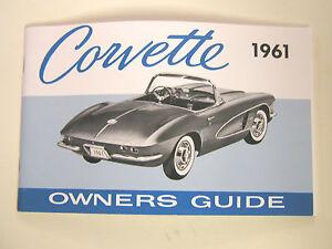 GM-1961-Chevy-Corvette-Owner-039-s-Manual