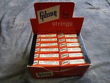 GIBSON SONOMATIC VINTAGE 50-60-s GUITAR STRINGS CLEAN 12 packs  CASE CANDY SALE