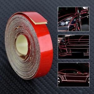 Rot-10M-Reflektierendes-Klebeband-Selbstklebend-Reflektorfolie-DIY-Reflektorband