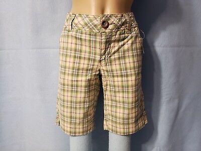 6 NEW Aeropostale Junior Girls Pink /& Blue Plaid Shorty Shorts 5