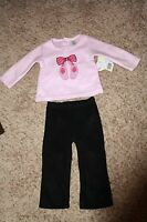 So Play Baby Ballerina Girls 18m Pink & Black Polyester 2 Pc. Outfit