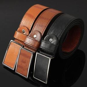 Men-039-s-Waistband-Leather-Metal-Automatic-Buckle-Casual-Dress-Belt-Waist-Strap
