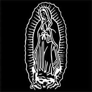 Virgin Mary Guadalupe Vinyl Decal Sticker TWO Pack EBay - Vinyl decals custompack of custom skull face vinyl decalsstickers thedecalking