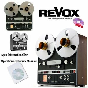 Revox-A700-tape-recorder-reel-to-reel-operation-instruction-service-manual-cd