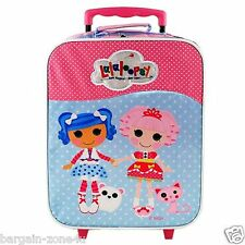Lalaloopsy Kids Girls Rolling Luggage Travel Trolley Suitcase Wheeled School Bag