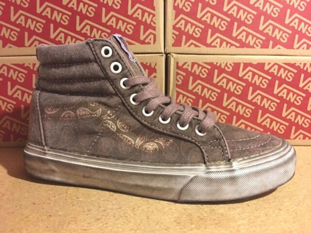 bb418fda8d VANS Sk8 Hi Reissue + (Overwash Paisley) Teak Brown UltraCush WOMEN S 6
