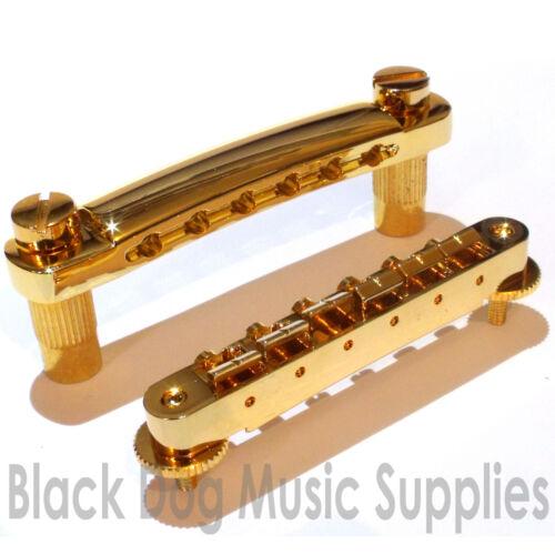 Melodie O Matic Gitarre Brücke//Saitenhalter Combo in Chrom Schwarz oder Gold