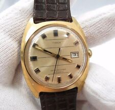 "TIMEX,1972,Automatic.""Round Date/Just dial"",CLASSIC!  Leather MEN'S WATCH,722"