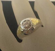 Art Deco. lady's 18k 2-tone Gold Solitaire Diamond 50 pt.or 1/2 Ct.  Ring Sz 7.5