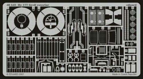 EDUARD 1//48 AIRCRAFT HE177 GREIF EXTERIOR FOR MPM48543