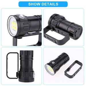 Plongee-Lampe-de-poche-3-7V-28800Lm-LED-etanche-photographie-Lampe-torche-80m