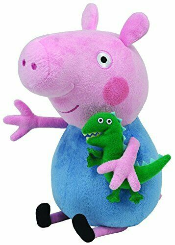 Ty George Plush Soft Beanie Buddy Toy 10 Peppa Pig TV Character Kids Play Fun