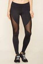 60% OFF!AUTH FOREVER 21 MESH-INSERT WORKOUT ACTIVE LEGGINGS SMALL BNEW US$19.90