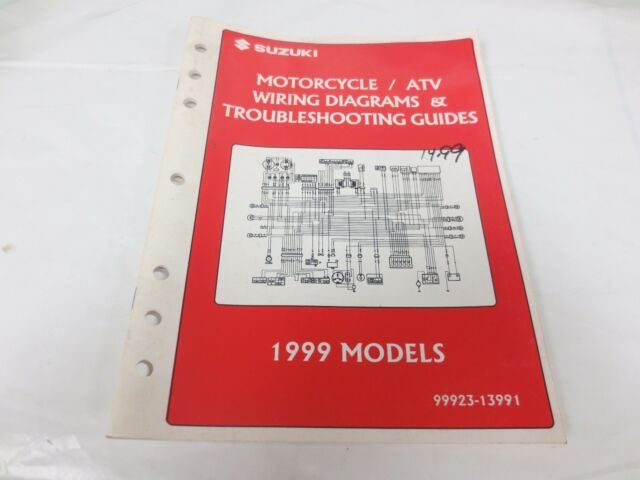 1999 Suzuki Motorcycle  U0026 Atv Wiring Diagram Manual 99923