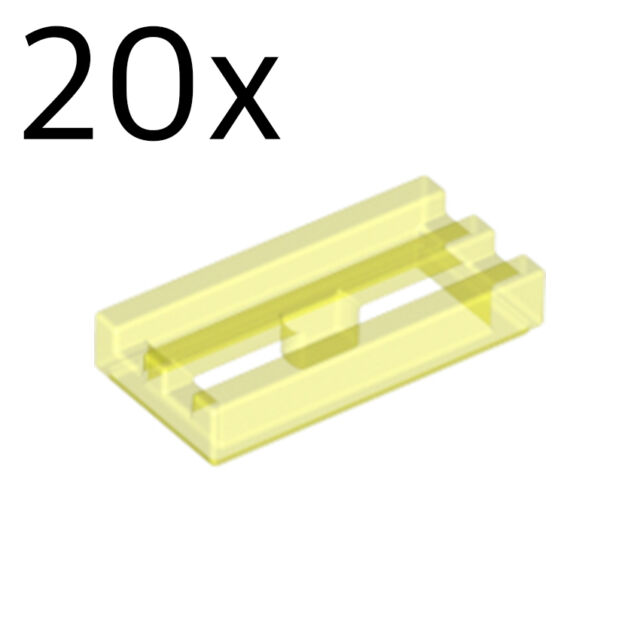 Tile Modified 1 x 2 Grill with Bottom Groove TR N GREEN x10 LEGO TM41 2412b