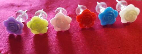 12 Rose Tête Nouveauté Push Pins Thumb punaises pour cork Feutre Dessin notice Board