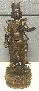 Large-18TH-CENTURY-Bronze-Buddha-Statue-Vaisramana-29cm