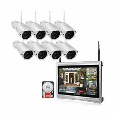 62460b627f5 -Luowice 8CH Wireless Audio Security Camera System with Built-in Monitor    Rou.