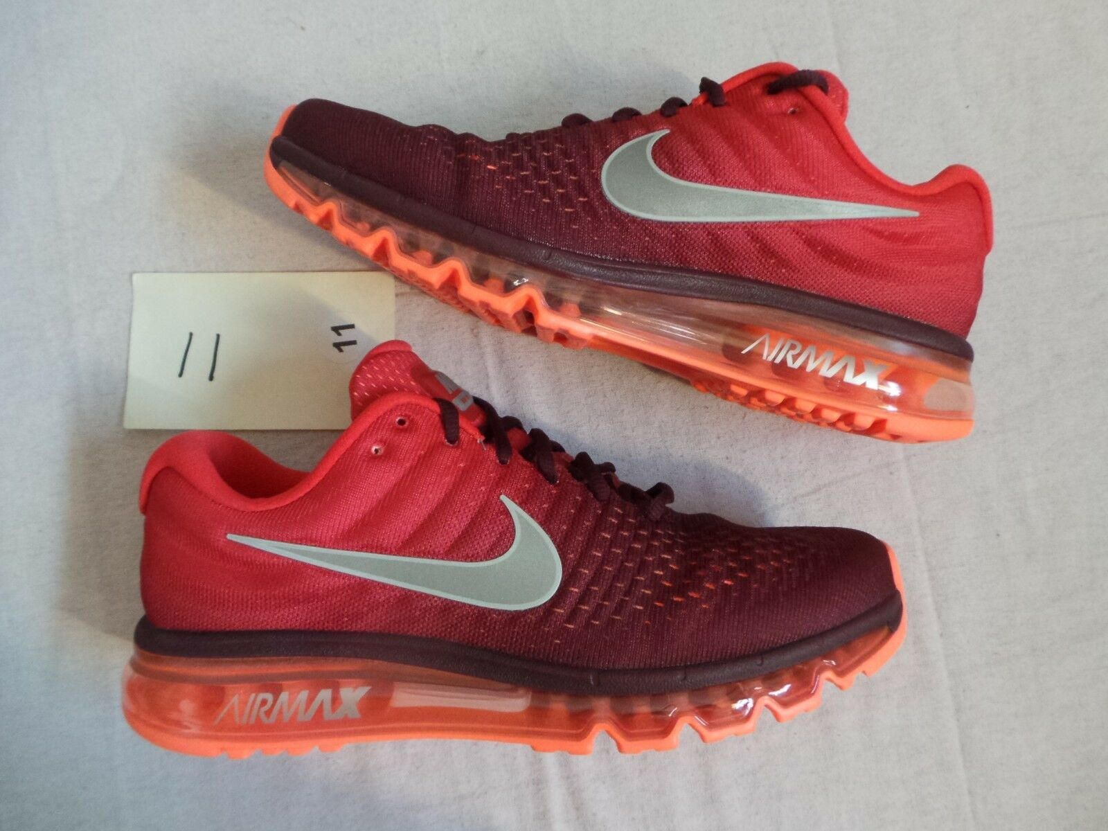 Nike Air Max AirMax 2017 AirMax2017 team red gym red size 11 DS NEW  190 MSRP