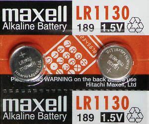 2-PILES-LR1130-AG10-189-1-5V-MAXELL-ENVOI-RAPIDE