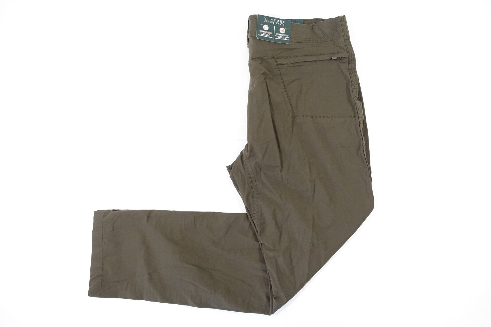G.H. BASS & CO DARK BROWN 34X32 TRAIL FLEX DRY VENTURE ACTIVE PANTS MENS NWT NEW