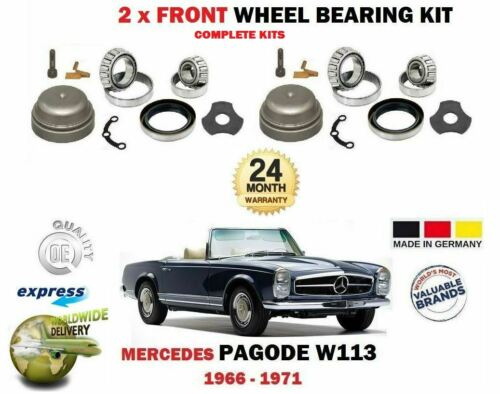 FOR MERCEDES PAGODE W113 250SL 280SL 1966-1971 NEW 2X FRONT WHEEL BEARING KITS
