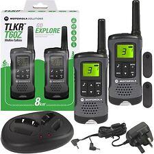 Motorola TLKR T60Z Walkie-Talkie PMR446 5m Radio Wiederaufladbarer 2er Pack +
