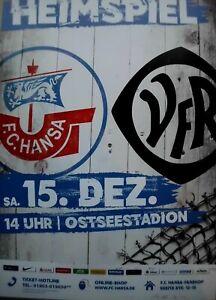 Presseinfo FC Kaiserslautern 10.11.2018 Liga FC Hansa Rostock- 1 3
